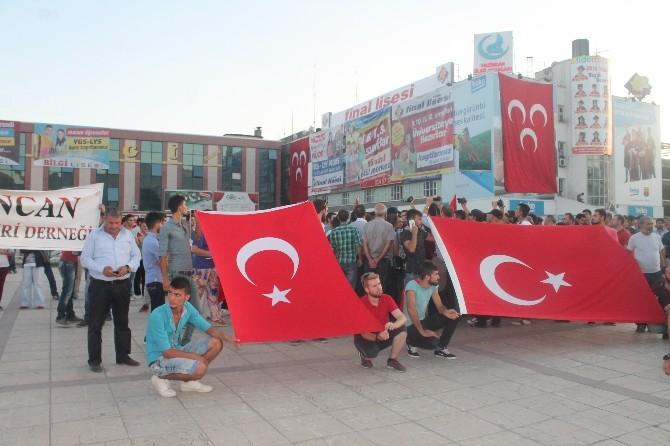 Erzincan'da Terörü Lanet Yürüyüşü