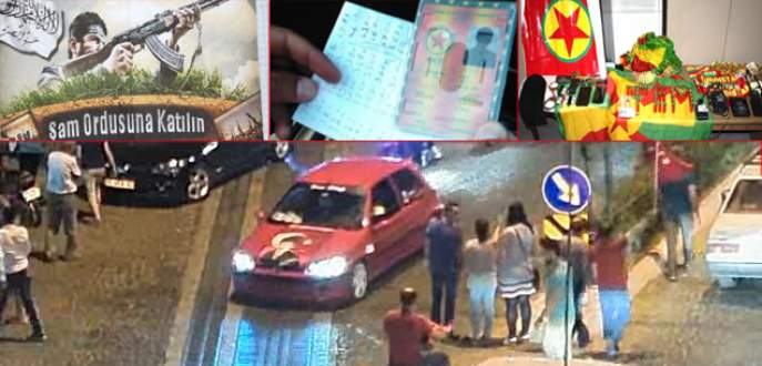 Teröre lanet yürüyüşünde 'PKK provokasyonu'