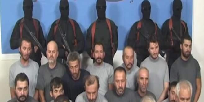 Irak'ta kaçırılan Türk işçilerden ilk görüntü!