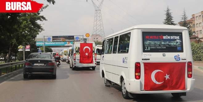 100 minibüslük konvoy