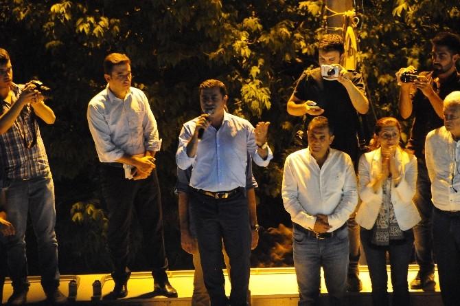 HDP Eş Genel Başkanı Demirtaş Doğubayazıt'ta