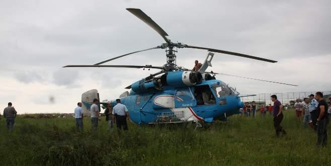 Ukrayna helikopterinden Giresun'a zorunlu iniş!