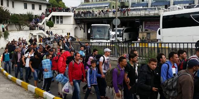 Otogara mülteci akını