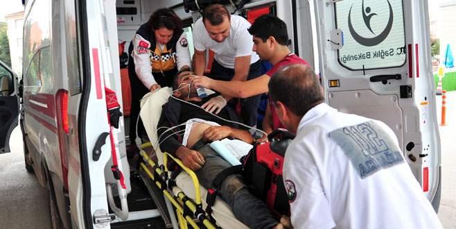 Elektrik akımına kapılan sürücü ağır yaralandı