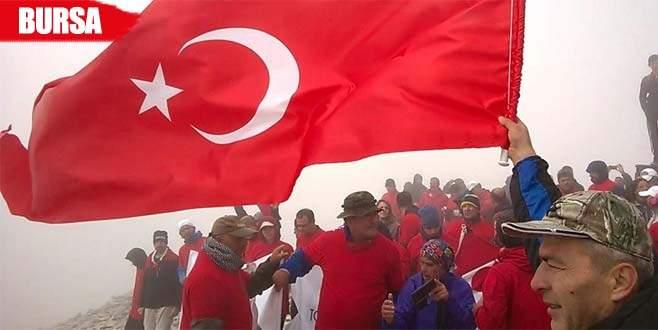 2 bin 500 metrede İstiklal Marşı okudular
