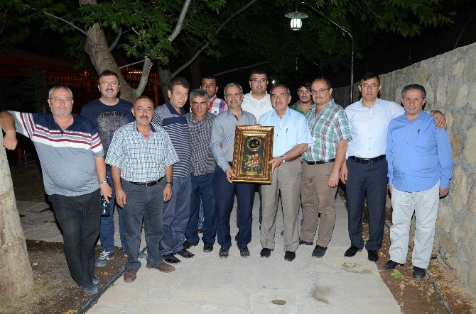 Darende'ye 30 Yıl Hizmet Eden Ahmet Yılmaz, İlçeye Veda Etti