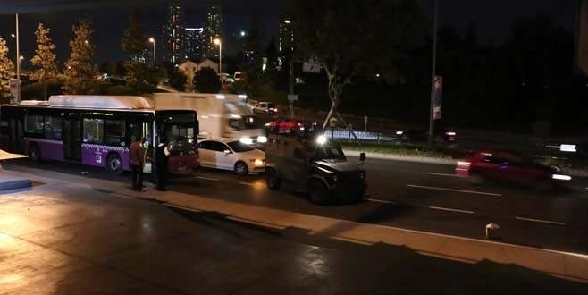 Belediye otobüsüne molotof