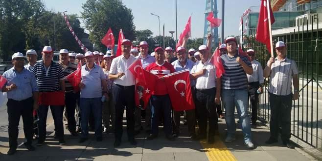 'Teröre karşı yürüyüşe Bursa'dan tam destek