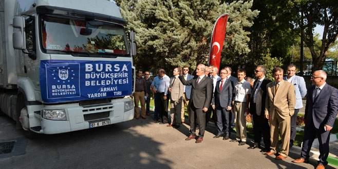 Bursa'dan sel mağduru Artvin'e yardım eli