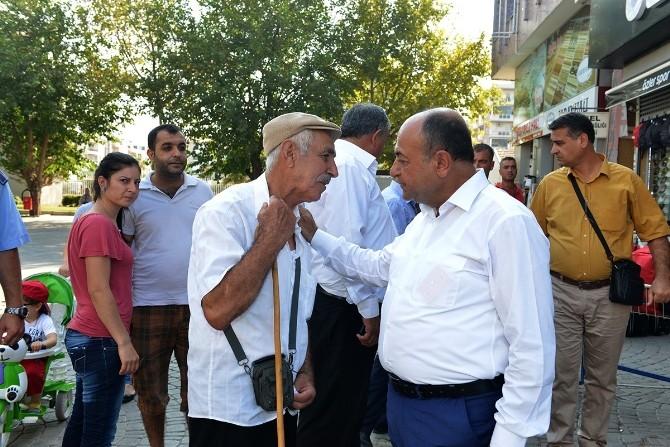 Başkan Arslan Esnafla Bayramlaştı