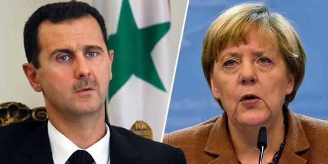 Merkel: Esad'la görüşülmeli