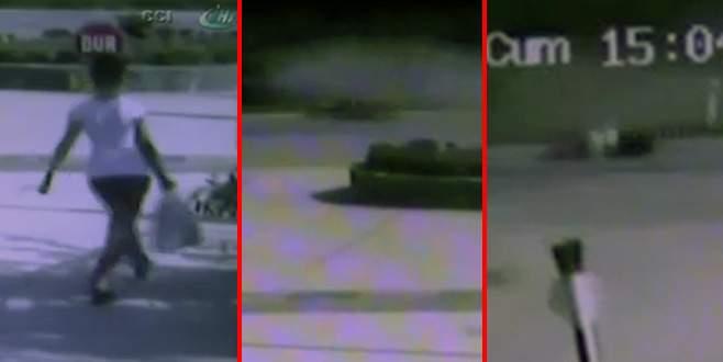 Otomobilin çocuğa çarpma anı kamerada