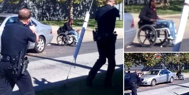 Polis intihar etmek isteyen felçliyi vurdu!