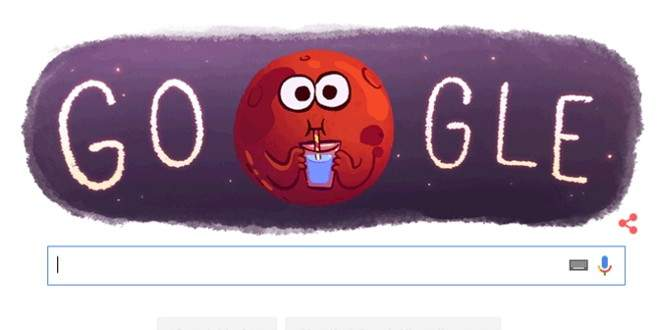Google, Mars'ta su bulunmasını doodle yaptı