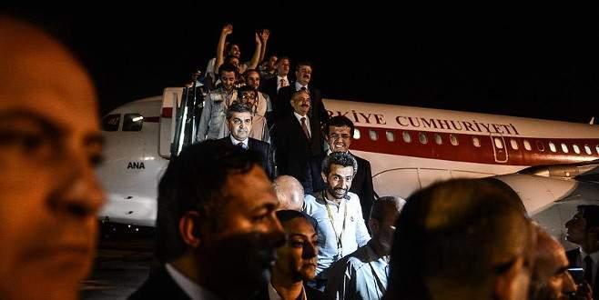 Irak'ta serbest bırakılan 16 Türk işçi Türkiye'de