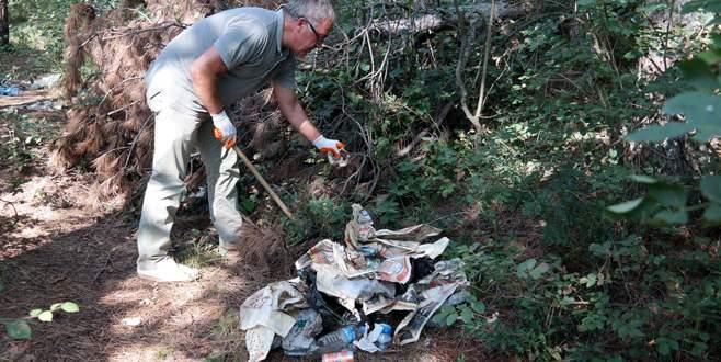 7 yılda 10 bin çuval çöp topladı