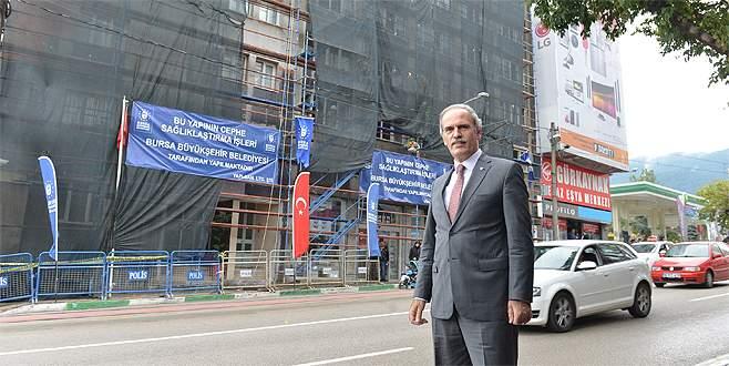 Bursa'nın caddeleri güzelleşiyor