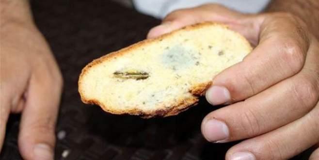 Ekmeği dilimleyince şoke oldu!