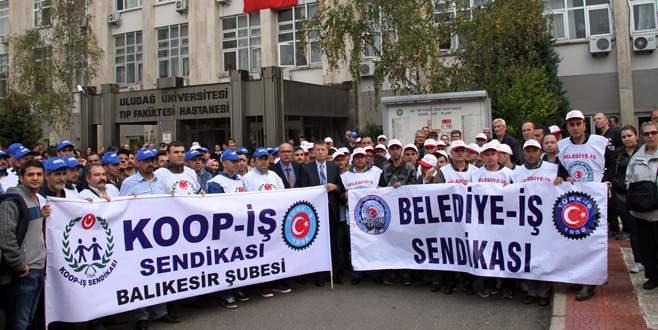 Taşeron işçilerden hak eylemi