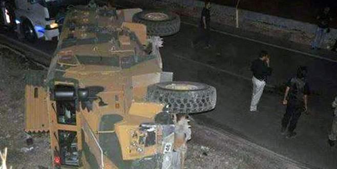 Şırnak'ta zırhlı araç devrildi: 13 asker yaralı