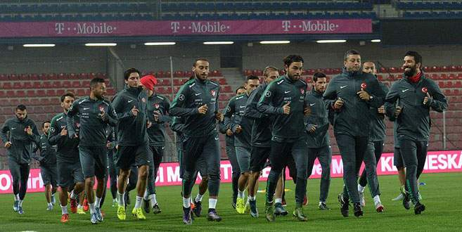 A Milli Takım Çek Cumhuriyeti maçına hazır
