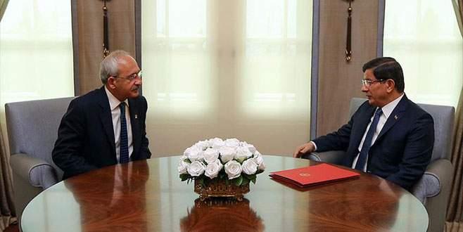 Davutoğlu ile Kılıçdaroğlu görüştü