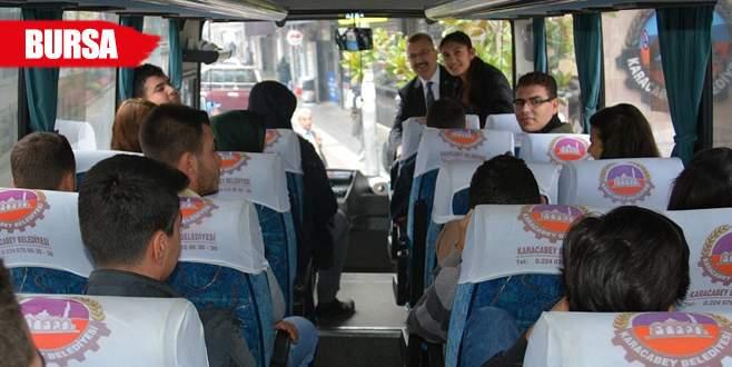 Karacabey'den Bursa'ya ücretsiz ulaşım