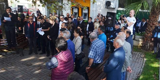 Ankara'daki saldırı Mudanya'da protesto edildi