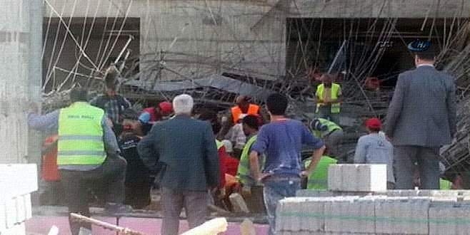 Hastane inşaatında çatı çöktü: 2 işçi öldü