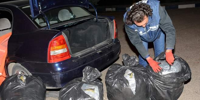 Avukatın kullandığı araçta 150 kilo esrar bulundu
