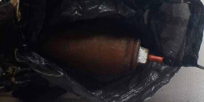 İnşaatın bekçi kulübesinde bomba bulundu