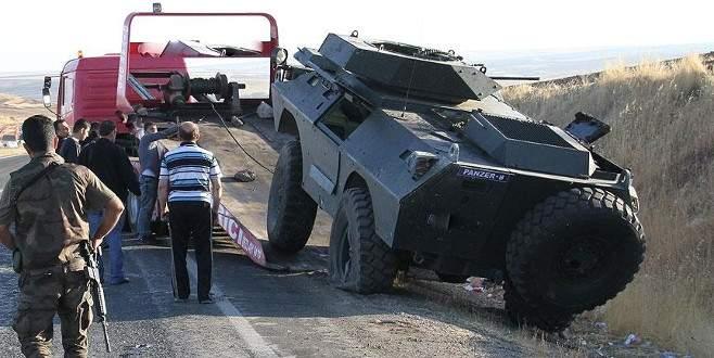 Bingöl'de zırhlı araç devrildi: 1 şehit, 2 yaralı