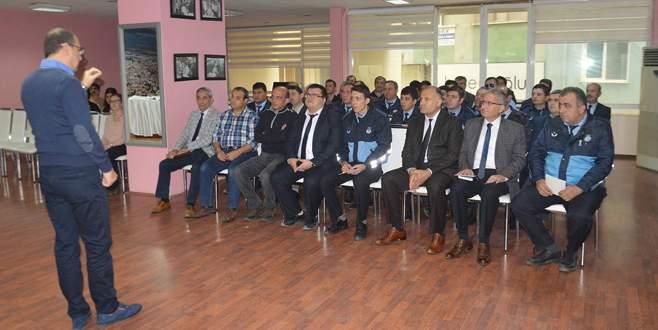 Zabıtaya eğitim semineri