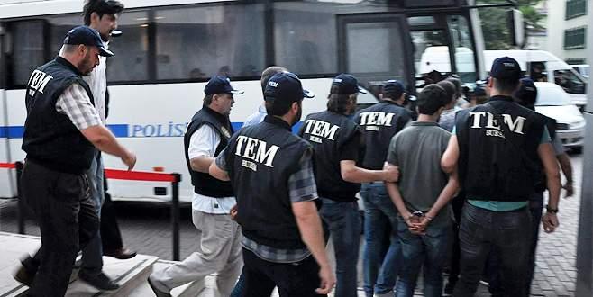 Bursa'daki terör operasyonlarında 33 tutuklama