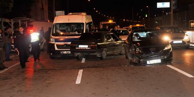 Bursa'da zincirleme trafik kazası: 7 yaralı