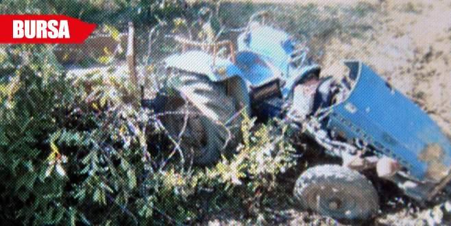Traktör şarampole yuvarlandı: 2 yaralı