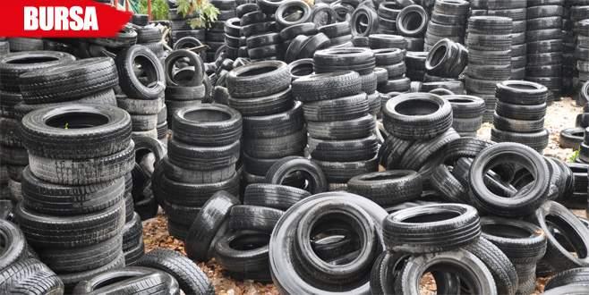 600 bin ton çıkma lastik elde kaldı