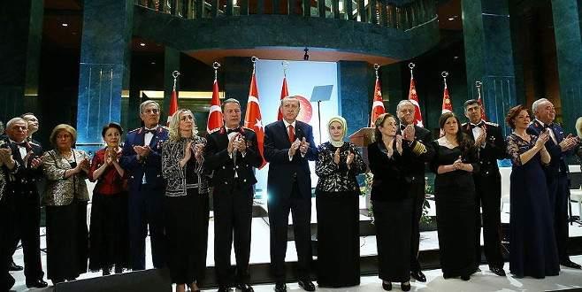 Cumhurbaşkanı Erdoğan, Cumhurbaşkanlığı Külliyesi'nde resepsiyon verdi