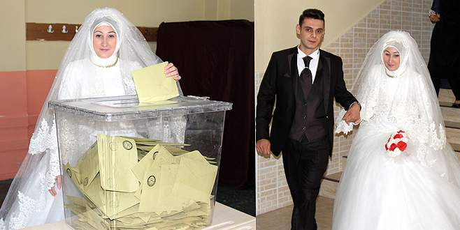 Bursa'nın çifti, 'önce sandık sonra nikah' dedi