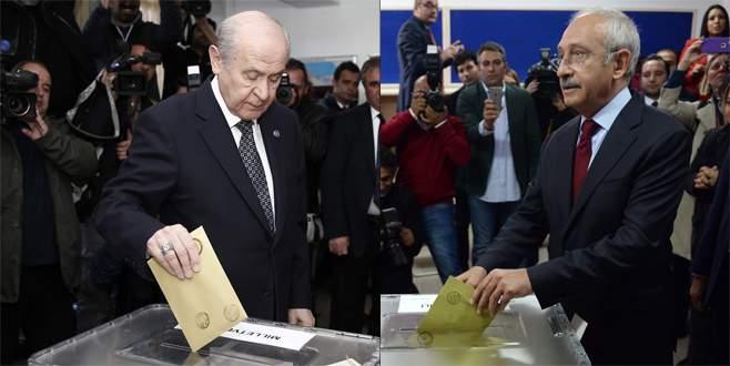 Kılıçdaroğlu ve Bahçeli'nin sandıklarından birinci çıkan parti…