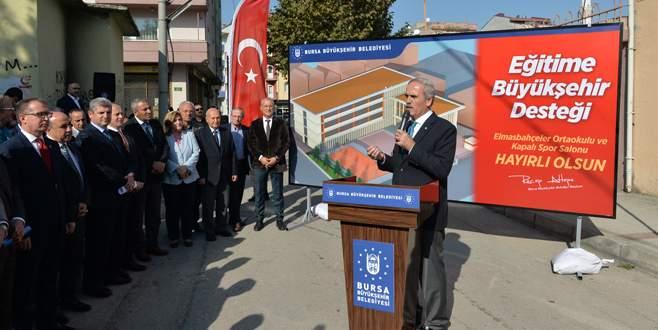 Elmasbahçeler Ortaokulu Büyükşehir ile yenileniyor