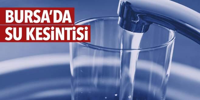 Bursa'da 7 ilçede su kesintisi