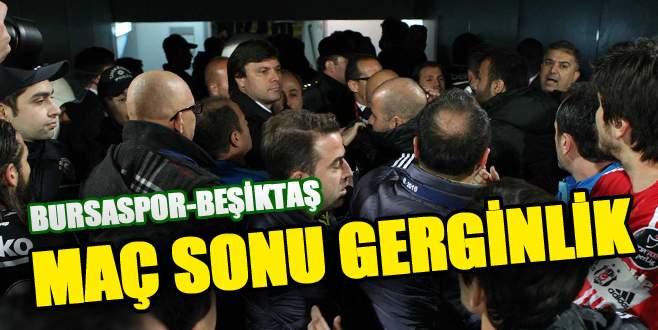Bursaspor-Beşiktaş karşılaşması sonrası gerginlik
