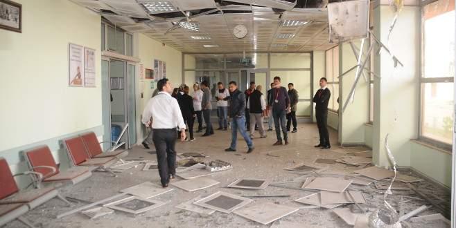 PKK roketi hastaneyi vurdu