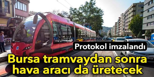 Bursa tramvaydan sonra hava aracı da üretecek