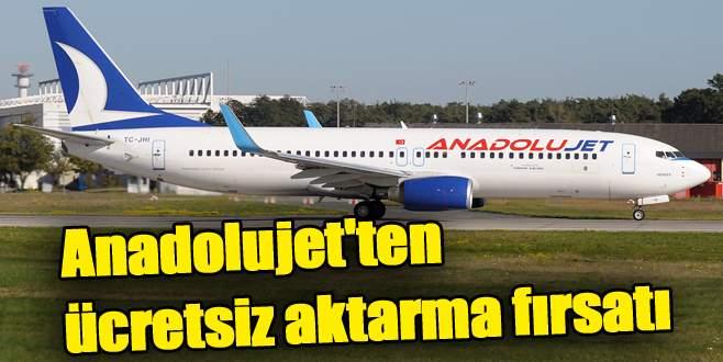 Anadolujet'ten ücretsiz aktarma fırsatı