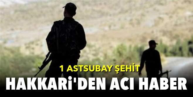 Hakkari'de askeri konvoya saldırı: 1 şehit