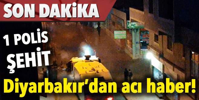 Diyarbakır'dan acı haber! 1 polis şehit