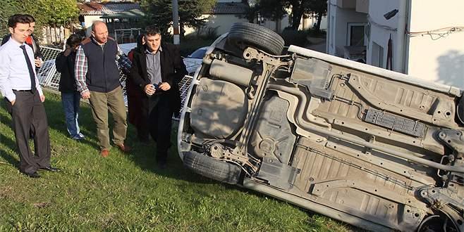 Bursa'da 4 ayrı kaza! Takla atıp duvara çaptı…