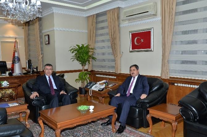 Başkan Eser'den, Emniyet Genel Müdürü Lekesiz'e Ziyaret